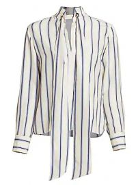 Chlo   - Multi Stripe Silk Long Sleeve Blouse at Saks Fifth Avenue