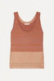 Chlo   - Ribbed wool-blend tank at Net A Porter
