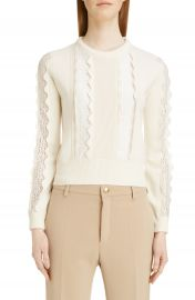 Chlo   Lace Inset Sweater at Nordstrom