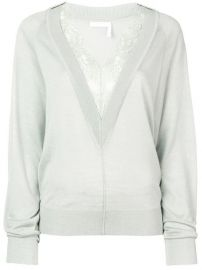 Chlo   Lace Trim Jumper - Farfetch at Farfetch