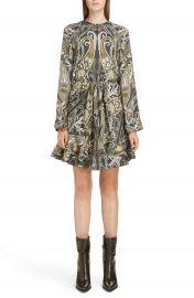 Chlo   Paisley Silk Blend Minidress at Nordstrom