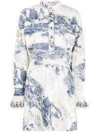 Chlo   Printed Mini Dress - Farfetch at Farfetch