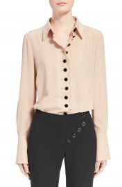 Chlo   Scalloped Silk Blouse at Nordstrom