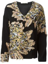 Chloand233 Fluffy Detail V-neck Sweater - Just One Eye at Farfetch