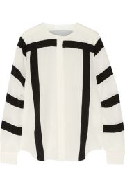 ChloandnbspandnbspPrinted silk-crepe blouse at Net A Porter