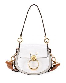 Chloe Tess Small Embossed Leather Shoulder Bag at Neiman Marcus