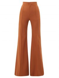 Chloe High-rise wool-blend flared trousers at Matches