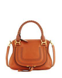 Chloe Marcie Medium Satchel Bag  Tan at Neiman Marcus
