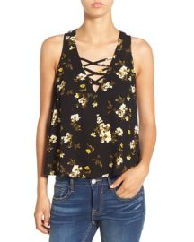 Chloe and Katie Floral Print Swing Top at Nordstrom