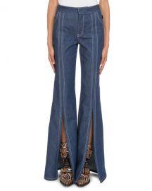 ChloeHigh-Waist Slit Flare-Leg Jeans at Neiman Marcus