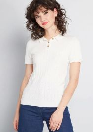Chosen polo short sleeve sweater at ModCloth