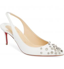Christian Louboutin Drama Spike Slingback Pump   Nordstrom at Nordstrom