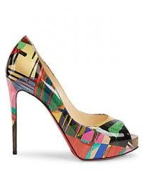 Christian Louboutin - New Very Priv   Peep-Toe Patent Leather Pumps at Saks Fifth Avenue