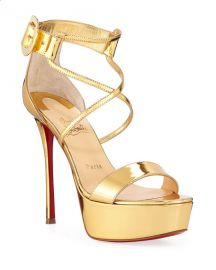 Christian Louboutin Choca Specchio Red Sole Sandals at Neiman Marcus