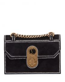 Christian Louboutin Elisa Mini Suede Strass Shoulder Bag at Neiman Marcus