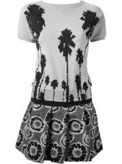 Christian Pellizzari Tree Print Dress - Jean Pierre Bua at Farfetch