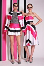 Christian Siriano Resort 2014 Stripe Shorts at Vogue