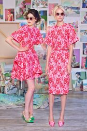 Christian Siriano Resort 2015 Floral Top and Skirt at Vogue