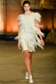 Christian Siriano Sprint 2014 Feather Dress at Vogue