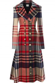 Christina double-breasted checked wool and cashmere-blend coat at The Outnet