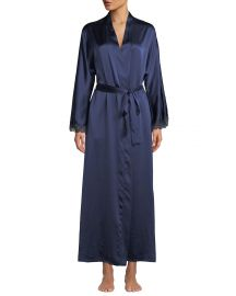 Christine Lingerie Bijoux Long Silk Robe at Neiman Marcus