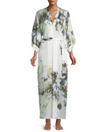Christine Designs Limelight Long Silk Robe at Neiman Marcus