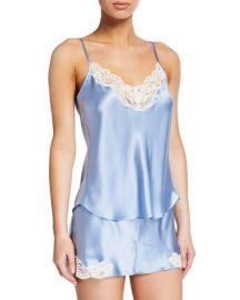 Christine Lingerie Bijoux Short Silk Pajama Set at Neiman Marcus