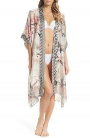 Christine Lingerie Print Silk Kimono Robe   Nordstrom at Nordstrom