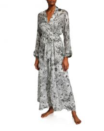 Christine LingerieArabella Floral-Print Long Robe at Neiman Marcus