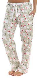 Christmas Bear Print Pants by Pajama Mania at Amazon