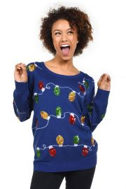 Christmas Lights Sweater by Tipsy Elves at Amazon