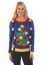 Christmas Tree Sweater with Suspenders at Amazon
