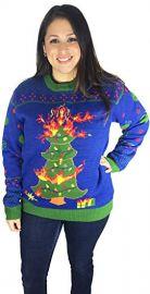 Christmas Tree Ugly Christmas Sweater at Amazon