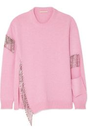 Christopher Kane - Oversized crystal-embellished cutout wool sweater at Net A Porter