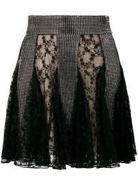 Christopher Kane Crystal Lace Mini Skirt - Farfetch at Farfetch