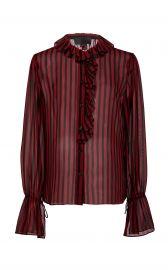 Cicily Ruffled Silk Shirt at Moda Operandi