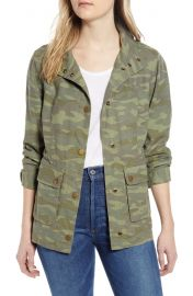 Cinch waist linen blend jacket at Nordstrom