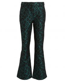 Cindy Leopard Jacquard Trousers at Anine Bing
