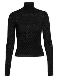 Cinq    Sept - Lilette Lurex Turtleneck at Saks Fifth Avenue