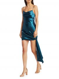 Cinq    Sept - Ryder Satin Mini Dress at Saks Fifth Avenue