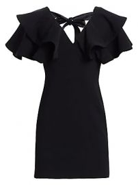 Cinq    Sept - Ambrose Ruffled Shoulder Sheath Dress at Saks Fifth Avenue