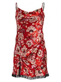 Cinq    Sept - Avalyn Floral Silk Mini Dress at Saks Fifth Avenue