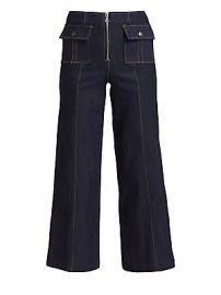 Cinq    Sept - Azure Front Denim Pants at Saks Fifth Avenue