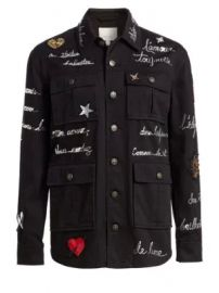 Cinq    Sept - Embroidered Love Letter Canyon Jacket at Saks Fifth Avenue