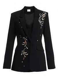 Cinq    Sept - Estelle Embroidered Blazer at Saks Fifth Avenue