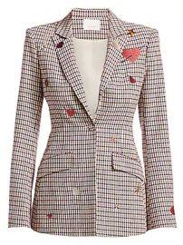 Cinq    Sept - Estelle Heart Check Blazer at Saks Fifth Avenue