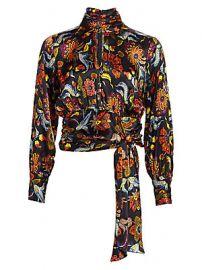 Cinq    Sept - Jacqueline Paisley Silk Top at Saks Fifth Avenue
