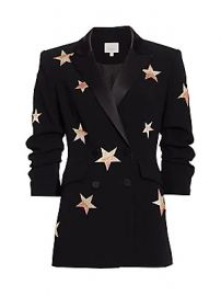 Cinq    Sept - Lila Star Embroidered Blazer at Saks Fifth Avenue