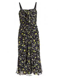 Cinq    Sept - Margot Printed Silk Dress at Saks Fifth Avenue