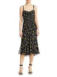 Cinq    Sept - Margot Printed Silk Dress at Saks Off 5th